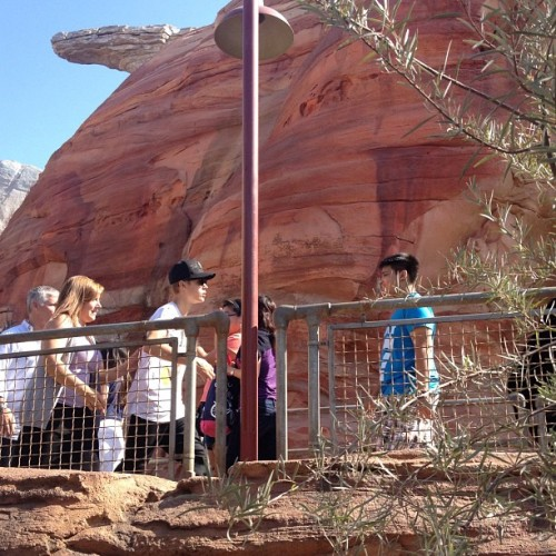 Another photo of Justin and his family at Disneyland earlier today.