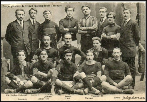 French football: Vintage team pic of Stade Quimpérois 1915-16 more Vintage Football Teams