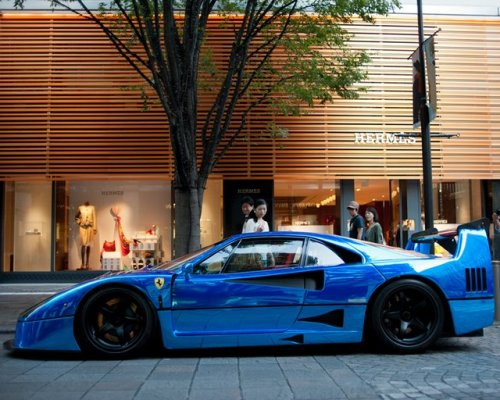 Ferrari F40 LM Blue Chrome Body Wrap