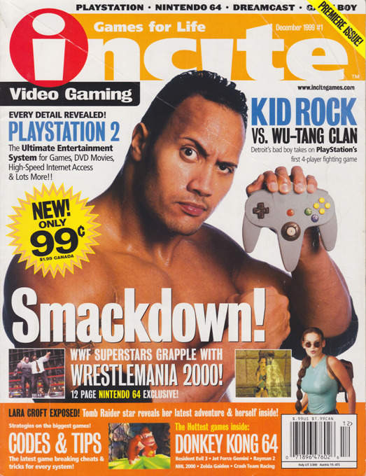 "playerspulse:  ""Smackdown!"" - Incite Magazine #1 - December 1999 Scanned this in earlier today and will go through and post more from the premiere issue of Incite. The magazine was fine for what it was, but it didn't last long due to the other gaming magazine hewavyweights like Electronic Gaming Monthly and Tips & Tricks."