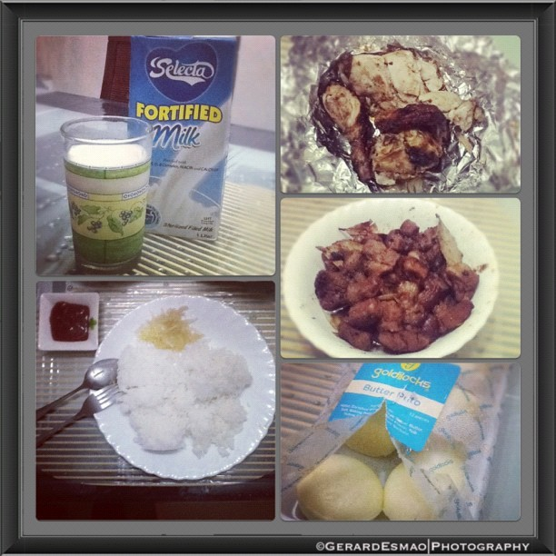 Heavy Breakfast for First Sunday.,#Breakfast #Chicken #Milk #Rice #Pork #Adobo #Pickled #Papaya #Instafood #Healthy #Food #Full #Instabreakfast #Igmanila #IgersManila #IgPhilippines #Igworld #instapic #Instapad #Instagood #Instagram #Instacool #Manila #Philippines #Pinas #Pictureoftheday #Sunday#2012  (Taken with Instagram at My Crib)