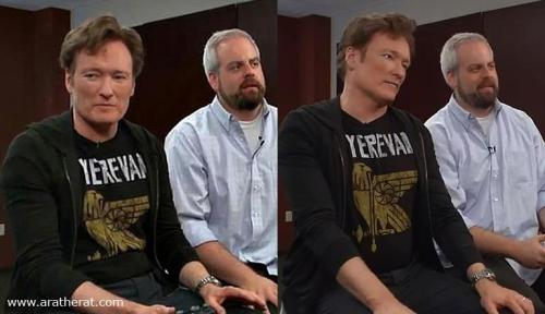 Yes, this happened. Read all about it here: When Conan O'Brien Wore a Yerevan T-shirt