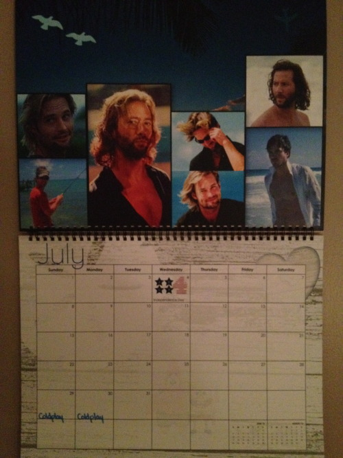 Bye, July :(  more than halfway done with the twin calendar… thanks to ( http://thatisveryg.tumblr.com/ ) Can't wait until next year!