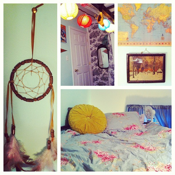 Bits and pieces of my new room.  (Taken with Instagram)