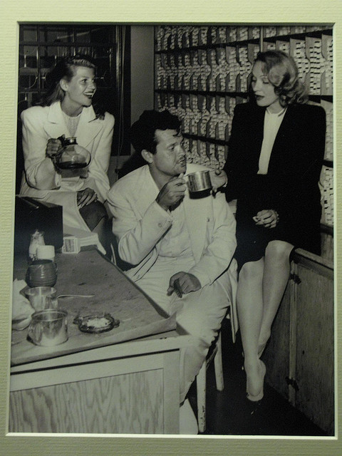 ritahayworthafreebirdinflight:  Rita Hayworth, Orson Welles, and Marlene Dietrich.