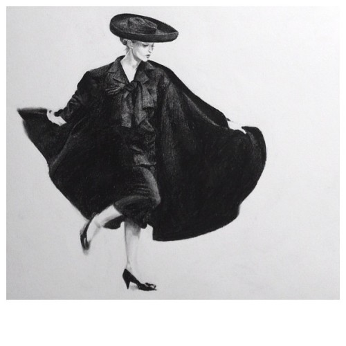 http://t.co/jp0L7VqF  Charcoal drawing. Photo by Avedon, August 1955.  http://t.co/jp0L7VqF | nataJane