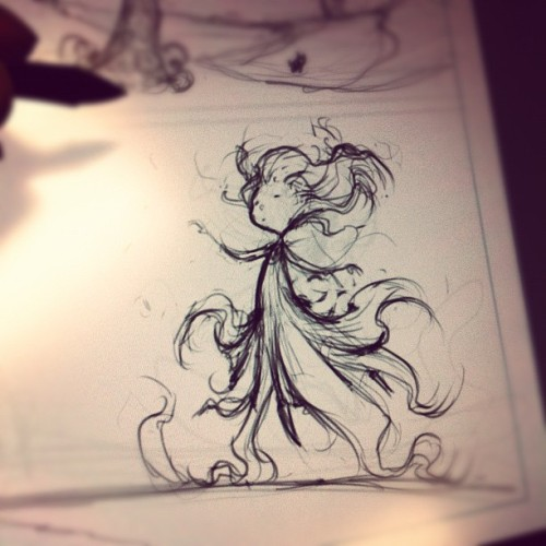Drawing some OZ (Taken with Instagram)