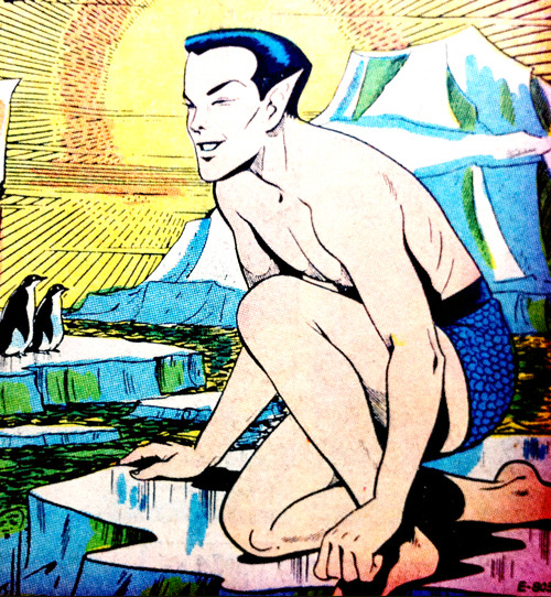 Namor chilling with some penguins