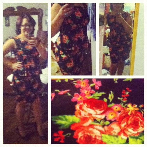 New ass dress #love #fashion #roses (Taken with Instagram)
