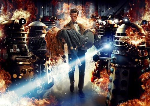 First promotional image from 'Asylum of The Daleks' - the first episode of the up-coming 33rd series of Doctor Who. I'm so excited! See the trailer over at Video Scrapings and more at Grizzly Bomb. (image from the BBC via SFX)