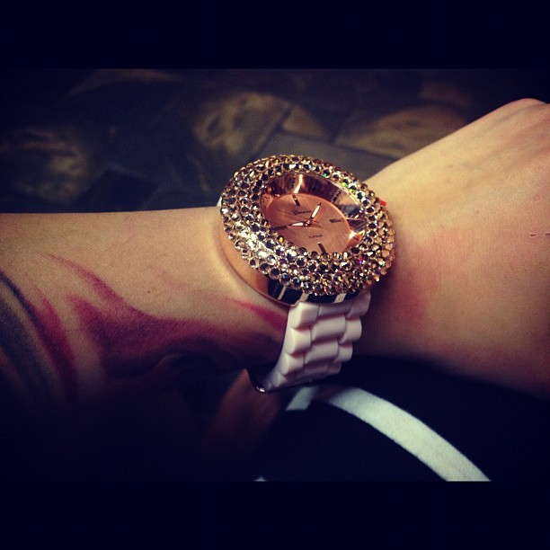 New watch💗😍 #watch #glam #fashion #rosegold #style #tattoos  (Taken with Instagram)