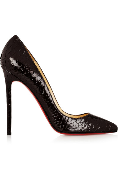 Christian Louboutin  The Pigalle 120 is pretty perfect as it is, but the snakeskin elevates it to another level.