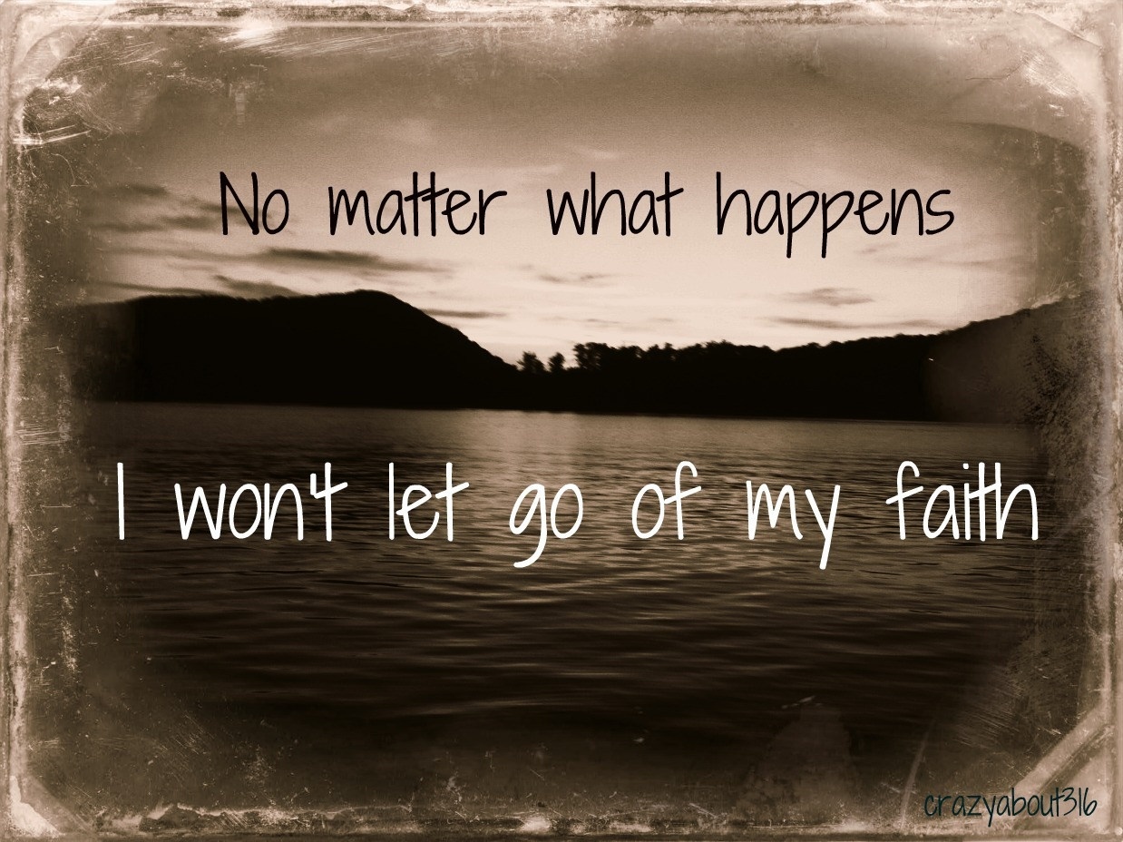 No matter what - don't let go!