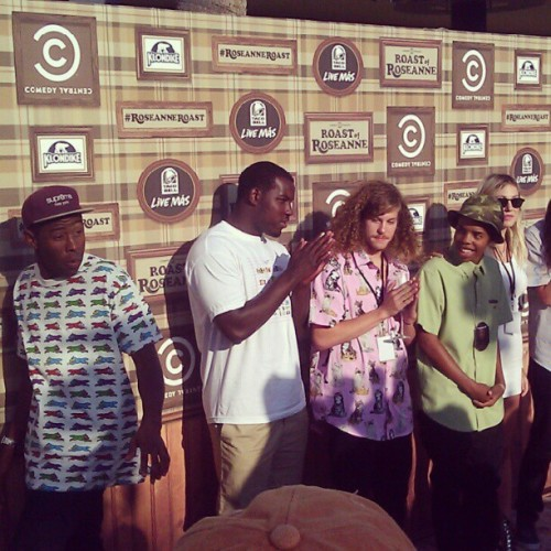 ccroasts:  Tyler, The Creator, Odd Future, and Workaholic Blake (Taken with Instagram)