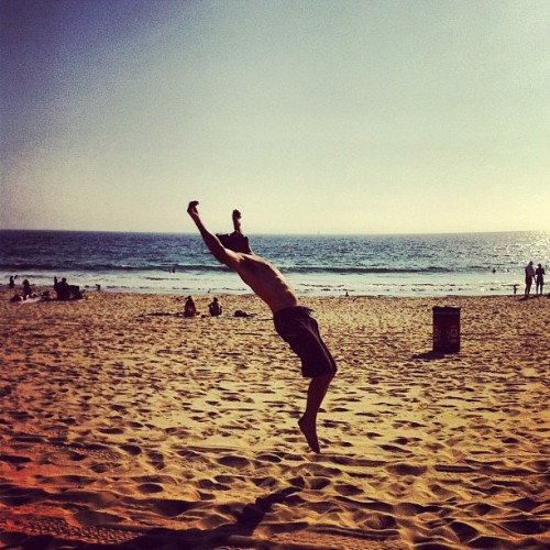 just a mid backflip sitch, nbd (Taken with Instagram at Beach @ Rosecrans)