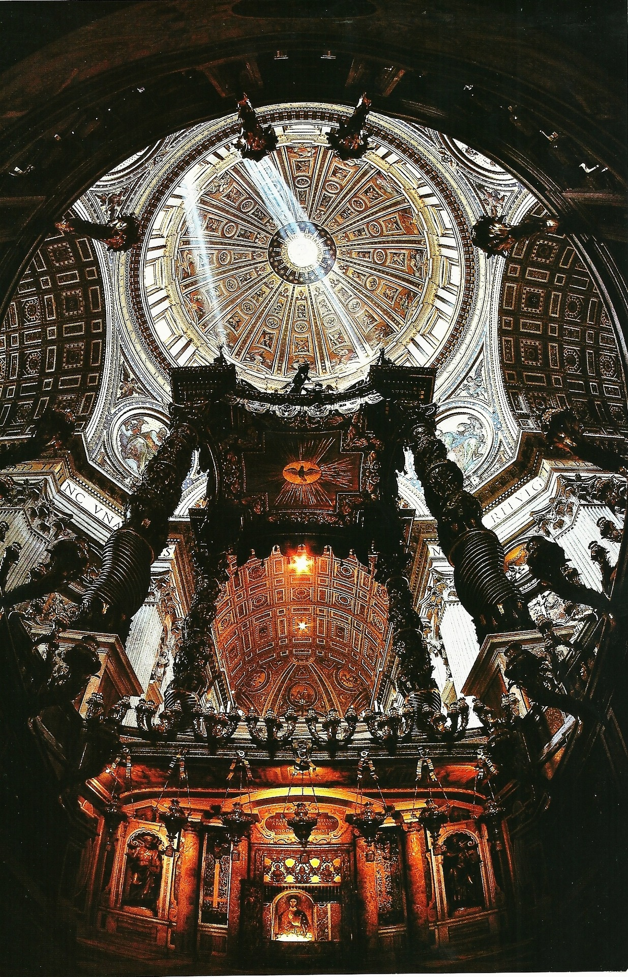 vintagenatgeographic:  Inside of the Basilica of St. Peter at Vatican City National Geographic | December 1985