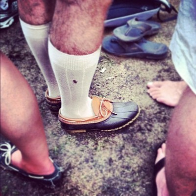 bean boots + polo socks = a natural combination. #duh #lolla  (Taken with Instagram)