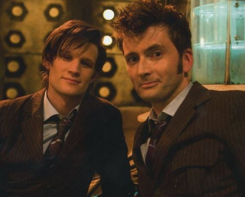 "Doctor Who Challenge Day #1: Your Favorite Doctor Okay, so I started watching the show back when season 5 was first starting… except I didn't know it was starting- I was just watching episodes on On Demand and online at the time. My first episodes of Doctor Who were a mix between series 4 and 5. I didn't know which ones were which and just watched whatever I could find. At first I actually thought they were just switching on and off between David Tennant and Matt Smith as the Doctor every few episodes. I watched the show only a little at first and then, over the course of probably about six months, it progressed into the obsession it is today. In those months I became more acquainted with the show and came to the realization eventually that they were two different seasons. The bottom line is though, I can't remember which Doctor I watched first. I'm a strong believer in ""your first Doctor= your favorite Doctor."" I've watched my friends as I show them Doctor who and have noticed that almost all of them remain with their first Doctor as their favorite. I'm the same way with my favorite Doctor- both 10 and 11 are my favorites and I think that's because I kind of have both of them as my first Doctor. 10 and 11 are my Doctors and I will forever love both of them."