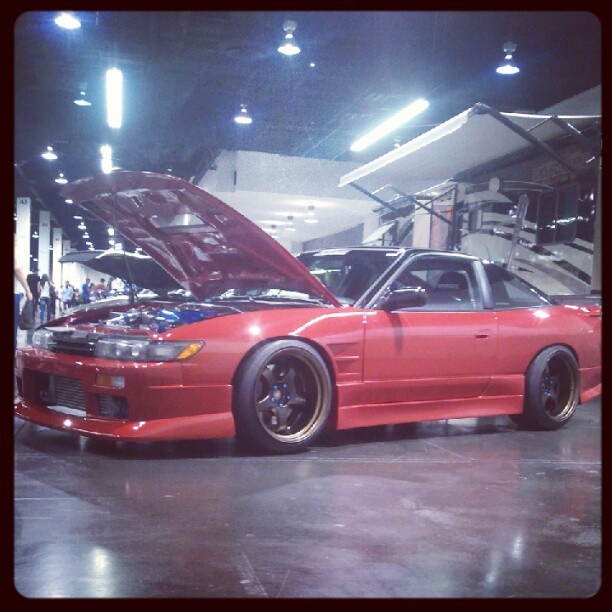 Sitting down after walking so much :) #Nissan #240sx #Spocom (Taken with Instagram at Anaheim Convention Center)
