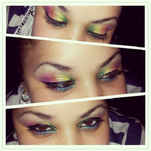 I wanted rainbow and she gave me rainbow. #makeup #makeupjunkie #makeupaddict #rainbow #mua #sephora #wetnwild #nyc #mac #eyes #eyelashes #eyeliner #eyeshadow #nyx #urbandecay #me #sister #fun #love #happy #pride #amazing #beautiful #instahub #instapic #instantly #iphonesia #colors #nice #picframe #picstitch  (Taken with Instagram)