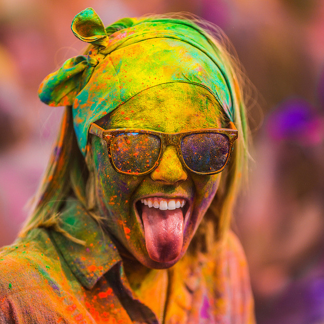 Yes! by Thomas Hawk on Flickr.Festival of Colors 2012