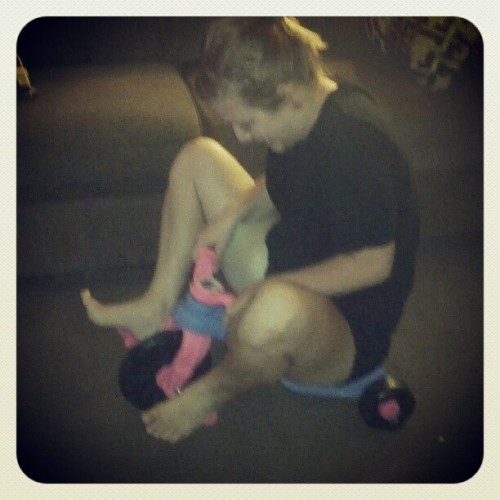 #Raye on Emma's #baby #bike.  #Hilarious  (Taken with Instagram)