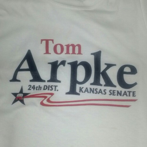 Great day walking for the true conservative in senate district 24, Tom Arpke. #ksleg #kstcot (Taken with Instagram)