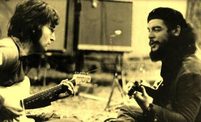 i-will-be-braver:  John Lennon and Che Guevara. 1960s