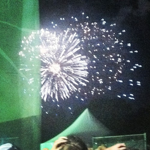 Fireworks during MGMT (Taken with Instagram)