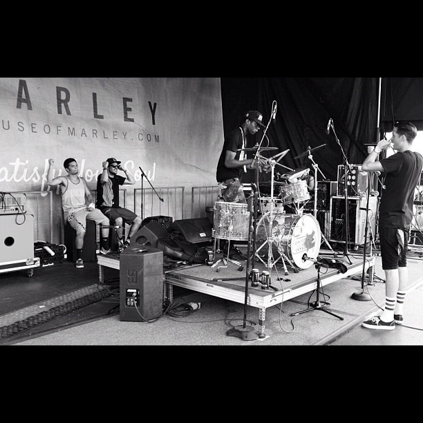 "Performing ""Loaded"" with @G_Eazy #Vanswarpedtour #tourlife #drumlife  (Taken with Instagram)"