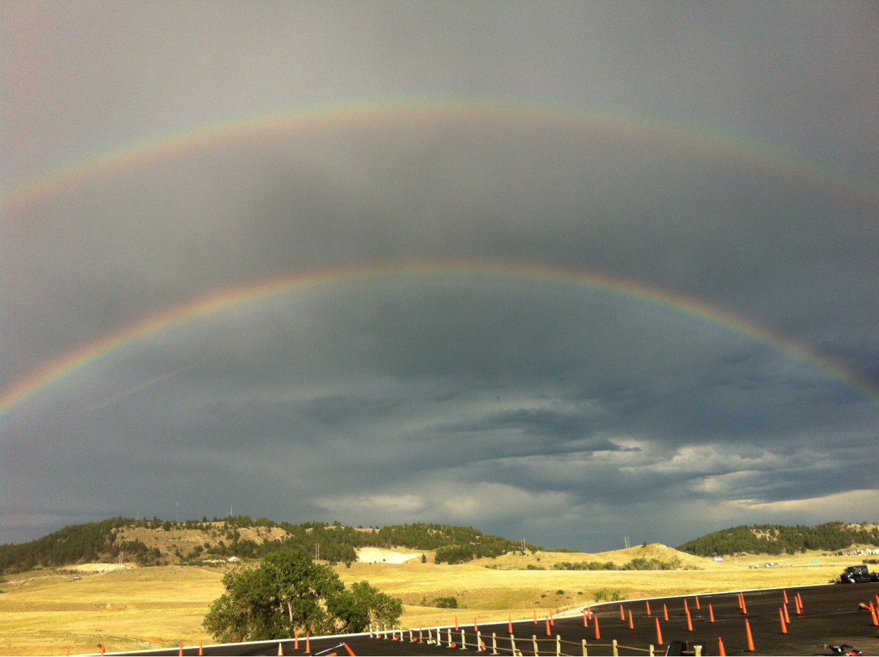 Double rainbow in South Dakota.