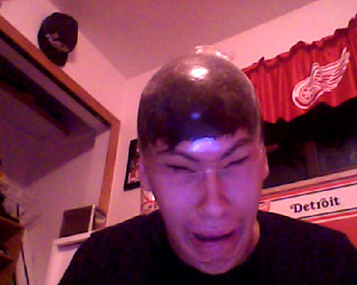 6t9u:  I got bored so i put a condom on my head