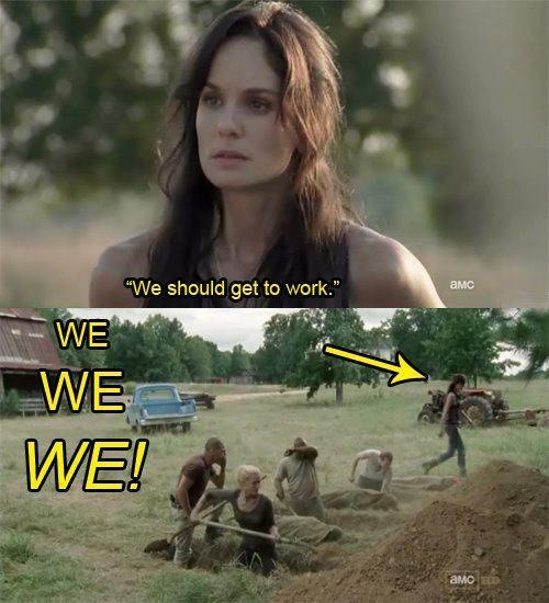 The Walking Dead: We should get to work.