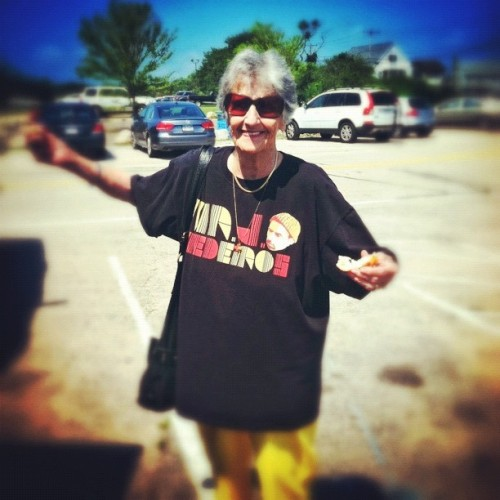 My Grandma Supports Underground Hip Hop… (Taken with Instagram)