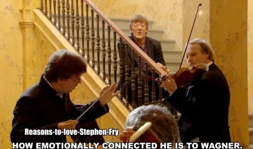 mezzoalex:  reasons-to-love-stephen-fry:  Reason #144- His emotional connection to Wagner. Requested by banana-67.  I honestly want to cry over how much he loves his Wagner.
