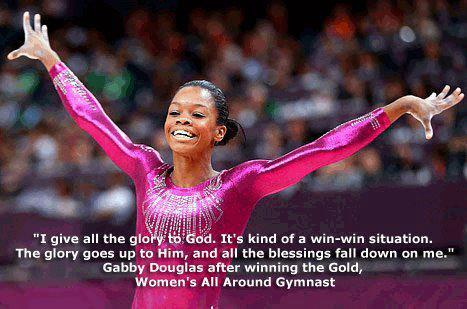 missmoriahkeiko:  Gabby Douglas's response to winning the gold!