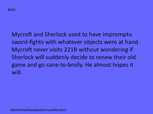 bbcsherlockheadcanon:  Submission by Anonymous.