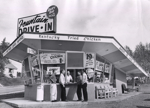 Fountain Drive In 1960