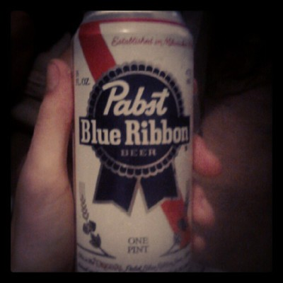 Sayy whatt I'm drinking a pbr? #beer #omaha  (Taken with Instagram)
