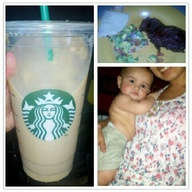 What my day consist of c: #carmamelmacciato #carneasada #guacamole #baby plus getting wet with Mayra's kids!(: (Taken with Instagram)