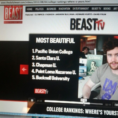 stephiemademe:  The Daily Beast says my school (PUC) is America's most beautiful college. #nofilter (Taken with Instagram)  That moment when one of your tumblrs get instagrammed…