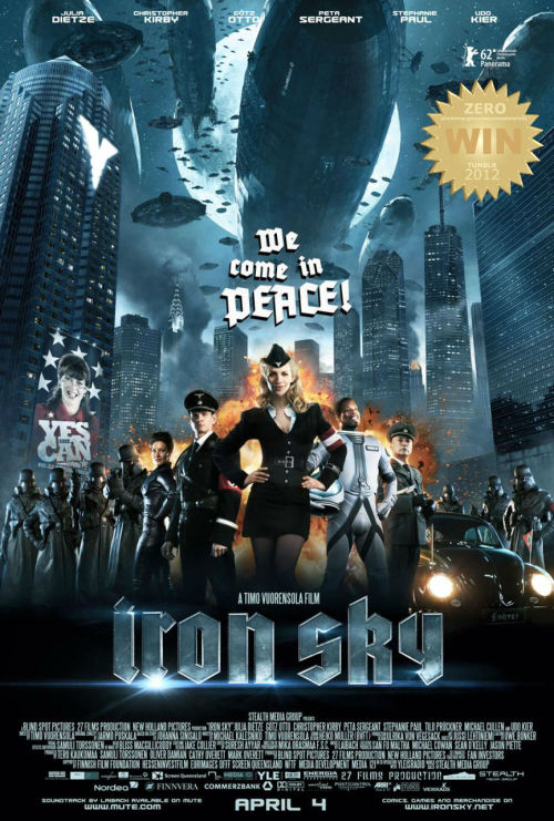 "Iron Sky (2012) The Nazis set up a secret base on the moon in 1945 where they hide out and plan to return to power in 2018. FUN and SMART!  Nazi's are hiding on the Dark Side of the Moon! They have come to reclaim the earth. A socio-political laugh-fest for the young and old. The humor was witty and dumb enough to keep me glued on the screen throughout the film. Decent effects (though a little cheesy at times) and a better story than i had initially expected… This is rambunctious sci-fi comedy that we (modern society) can learn from. Sometimes the past sneaks up on us and reveals situations that are timeless in nature. Change begins with a smile. Women rule! Julia Dietze shines as the ""am i good or am i bad"" Nazi. She was gorgeous and succeeded in making this film one to reckon with. Another lady who caught my eye was Peta Sergeant, she was superbly delectable.  All hail Udo Kier!!! Poor bastard always plays a Nazi. But the does it ""like a boss"". Bringing home the bacon is comedian Christopher Kirbyas as the racially confused ""Gray"" James Washington. His dilemma in the film was simply hilarious.  TRIVIA: More than 10 percent of funding for this film came from fans. The donors are listed in the credits.  I loved the spoof of ""youtube: Hitler Reacts to…"" scene. Pop culture at its best! The final confrontation was like a monster movie… instead of giant beasts we were given Nazi's in a humongous space battleship! Excellent!   The horror of nuclear war is upon us! (again?) or is it? Man is his own worst enemy. We have the power to destroy ourselves, if we succumb to ""orders of men"". People will always try to screw each other. Trust is something we all have to take care of… Everyone is ready to fuck each other up at a moments notice.  Some may criticize the ""science"" behind it all - need i remind you this is a spoof? Sit back laugh and enjoy the mindlessness.   A great comedy with substance! Believe it or not."