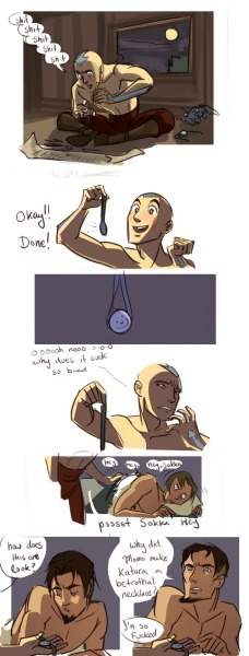 3gokei:  ngoziu:  Aang Makes a Betrothal Necklace. (ln response to this post)  thiS IS PROBABLY WHERE ALL MY FOLLOWS ARE COMING FROM TOO