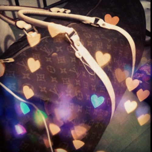 My baby!! Duffle bag girl!! #louisvuitton #dufflebag #swag #LV  (Taken with Instagram)