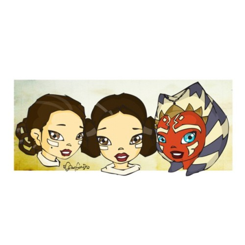 Finally rendered… #Padme - #Leia - #Ashoka #starwars #starwarsgirls (Taken with Instagram)