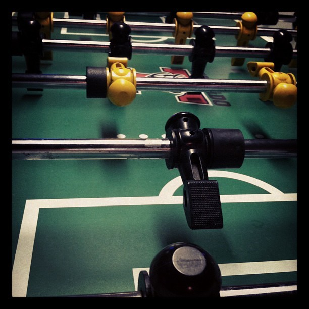 Playing' fooseball.  (Taken with Instagram at The Bar Bar)