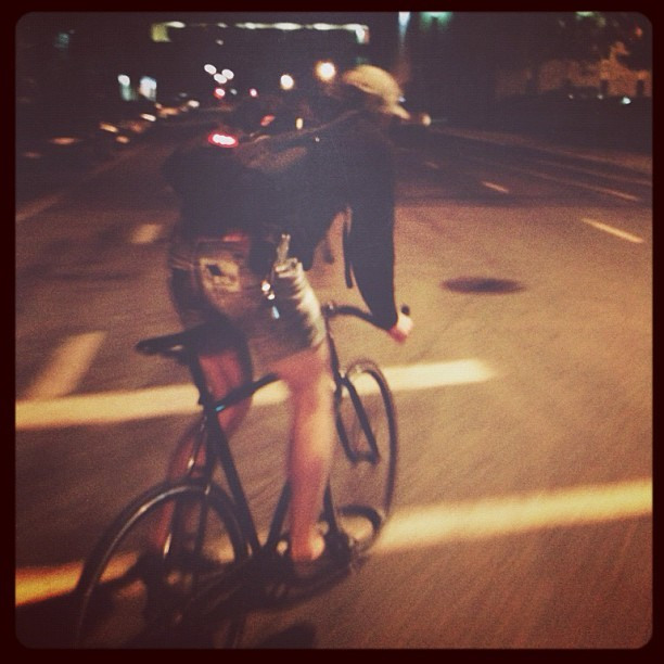 Biking with my best man tonight. #fixedgear #biking #trackbikes #minneapolis  (Taken with Instagram)