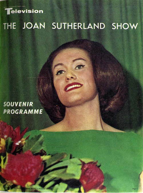 (Dame) Joan Sutherland appears on television, 1962