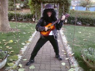 Halloween of freshman year. I was Slash