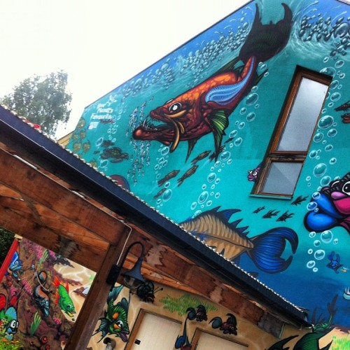 Crazy aquarium #streetart #oslo  (Taken with Instagram)